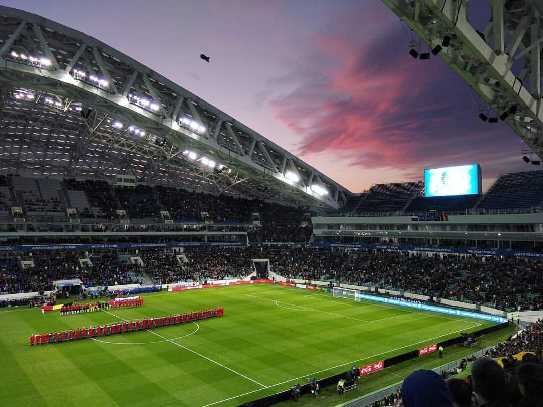 Матч на стадионе Фишт